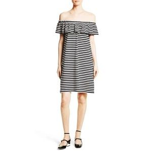 Kate Spade • NWT Striped Off The Shoulder Dress